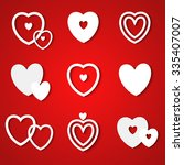 valentine hearts set. vector... | Shutterstock .eps vector #335407007