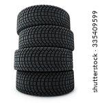 stack of automobile winter... | Shutterstock . vector #335409599