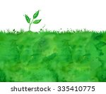 watercolor background with... | Shutterstock . vector #335410775
