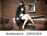portrait of a young and stylish ... | Shutterstock . vector #33541354