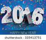 happy 2016 new year with... | Shutterstock .eps vector #335413751
