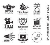 film  movie and video logo... | Shutterstock .eps vector #335414219