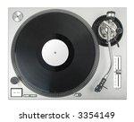 turntable   dj's vinyl player... | Shutterstock . vector #3354149