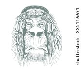 freak hypnotic sedative monkey... | Shutterstock .eps vector #335416691
