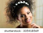 closeup portrait of beautiful...   Shutterstock . vector #335418569