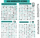 400 website icons  education ... | Shutterstock .eps vector #335423774