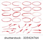 vector marker circles and arrows | Shutterstock .eps vector #335424764