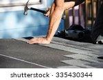 roof repairing   Shutterstock . vector #335430344