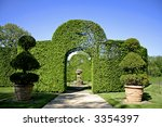 Arched Shrubs Gardens Of...