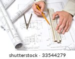 drawing and various tools | Shutterstock . vector #33544279