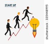 financial start up design ... | Shutterstock .eps vector #335448995