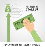 financial start up design ... | Shutterstock .eps vector #335449037