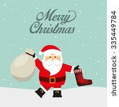 happy merry christmas design ... | Shutterstock .eps vector #335449784