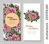 romantic invitation. wedding ... | Shutterstock . vector #335458184