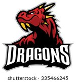 dragon head mascot | Shutterstock .eps vector #335466245