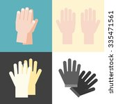 vector hand and gloves  flat... | Shutterstock .eps vector #335471561