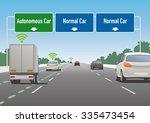 highway sign illustration ... | Shutterstock .eps vector #335473454
