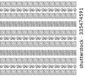 greek patterns  textures  black ... | Shutterstock .eps vector #335474591