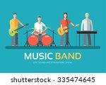 music band in flat design... | Shutterstock .eps vector #335474645