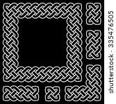black and white celtic knot... | Shutterstock .eps vector #335476505