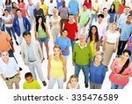 large group people working team ... | Shutterstock . vector #335476589