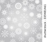 vector seamless winter pattern... | Shutterstock .eps vector #335481461