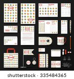 corporate identity template set.... | Shutterstock .eps vector #335484365