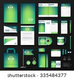 corporate identity template set.... | Shutterstock .eps vector #335484377