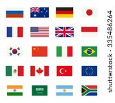 simple flags icons of the... | Shutterstock . vector #335486264