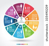 nine sides infographic template ... | Shutterstock .eps vector #335490209
