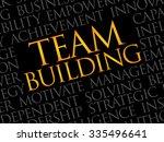 team building word cloud ... | Shutterstock .eps vector #335496641