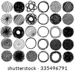 big set of pencil hand drawn... | Shutterstock .eps vector #335496791