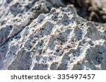 the rock of calcium carbonate... | Shutterstock . vector #335497457