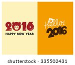 happy new year 2016 year of the ... | Shutterstock .eps vector #335502431