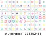 96 electronic and electric... | Shutterstock .eps vector #335502455