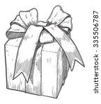 retro gift . vector  of giff... | Shutterstock .eps vector #335506787