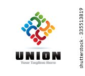 union people icon logo element | Shutterstock .eps vector #335513819
