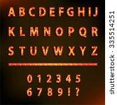 lightbulb alphabet glamorous... | Shutterstock .eps vector #335514251