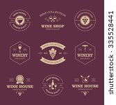 set of wine labels and badges... | Shutterstock .eps vector #335528441