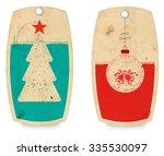 christmas labels set | Shutterstock .eps vector #335530097