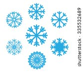 Set Of Snowflakes Vector Icons...
