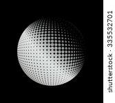 halftone vector logo template.... | Shutterstock .eps vector #335532701