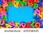 frame of plastic colorful... | Shutterstock . vector #335538335
