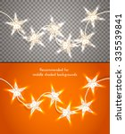star shaped christmas lights on ...   Shutterstock .eps vector #335539841