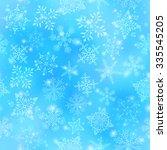 christmas seamless background... | Shutterstock .eps vector #335545205