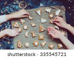 making the christmas cookies | Shutterstock . vector #335545721
