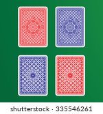 playing cards back    Shutterstock .eps vector #335546261