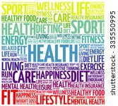 health word cloud background ...