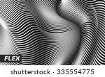 vector warped lines background. ... | Shutterstock .eps vector #335554775