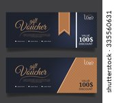 gift voucher premier gold.vector | Shutterstock .eps vector #335560631